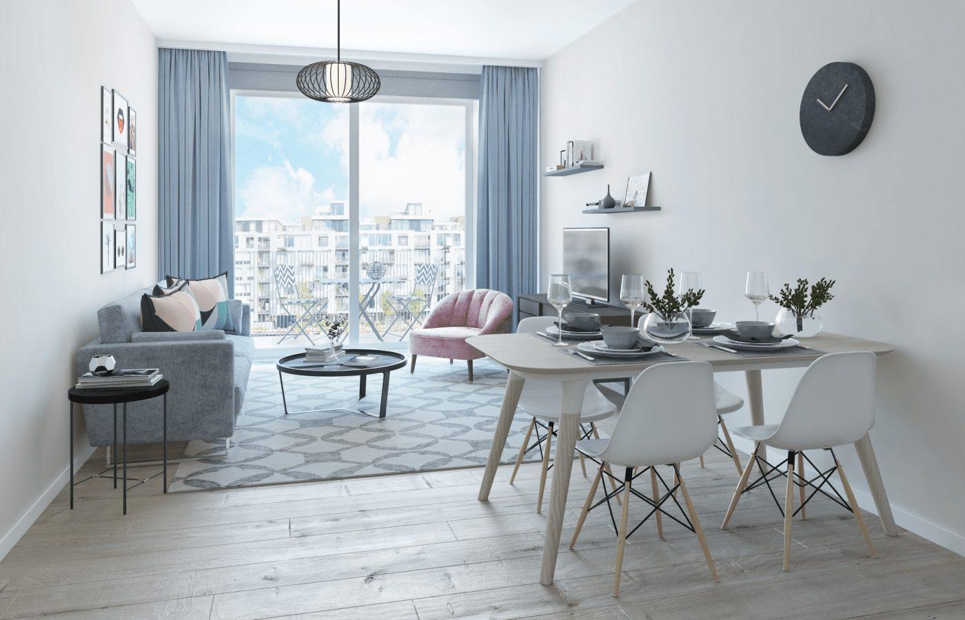 Modern Pastel Apartment