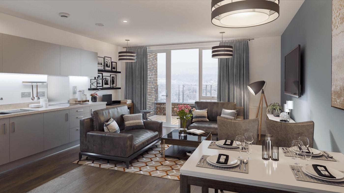 Open Plan Apartment Resize