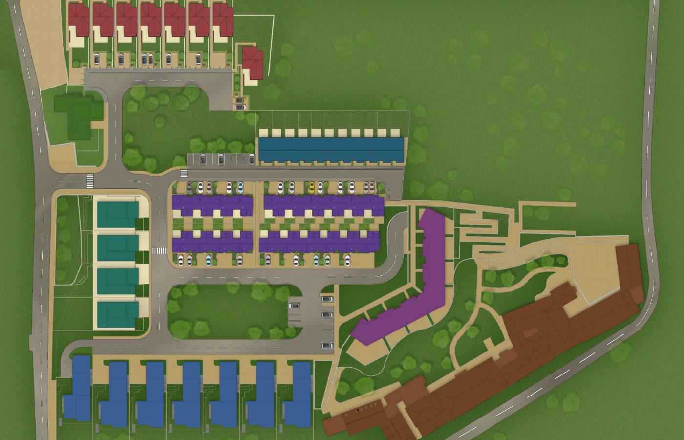 Convent Garden Site map