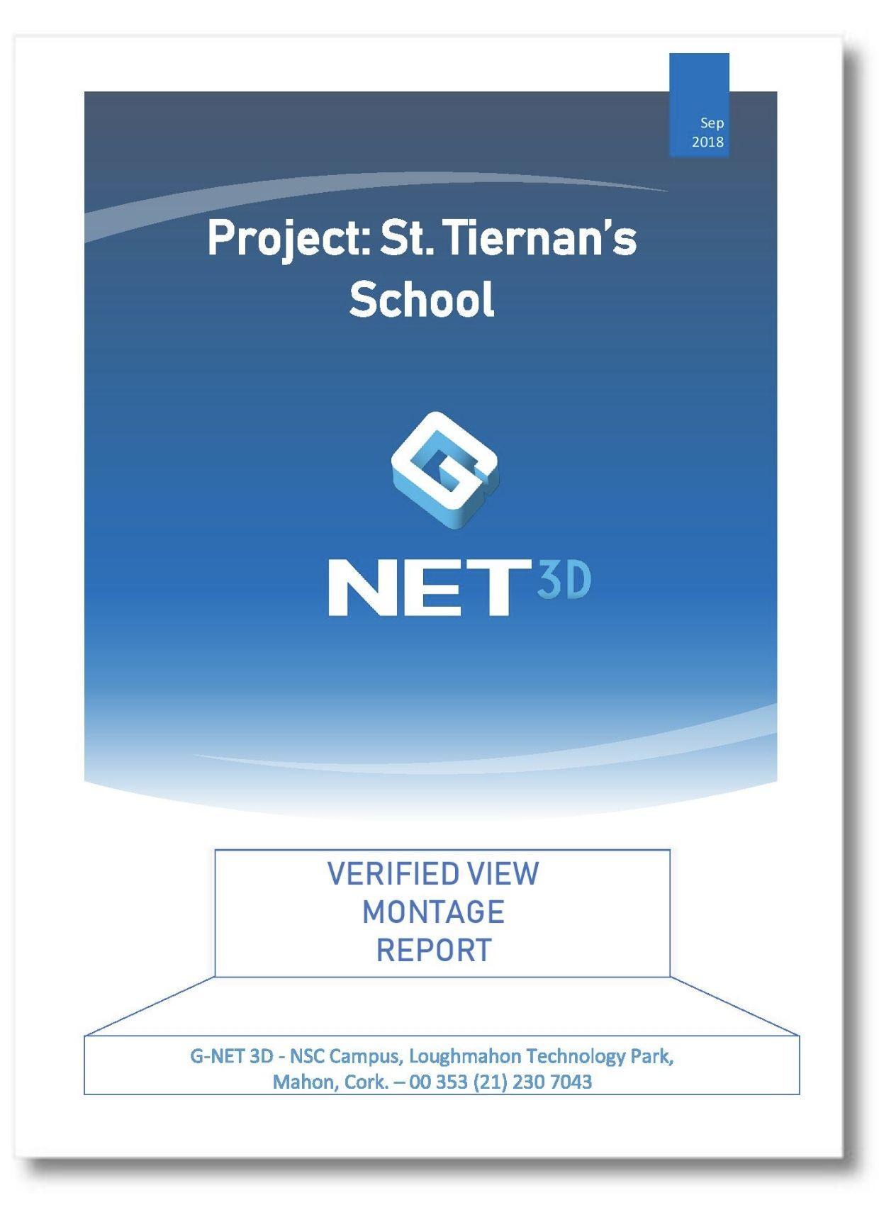 St Tiernans School – Photomontage Report